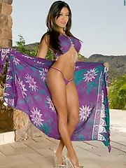 Jayd Lovely in Sexy Legs Latina in Purple Scarf