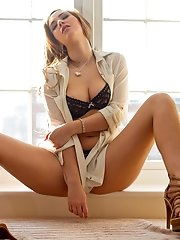 Sophia Knight spends her morning getting naughty by the window